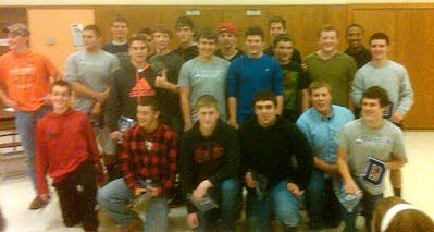 2013 dryden varsity football letter and pin winners